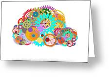 Gears Wheels Design  Greeting Card by Setsiri Silapasuwanchai
