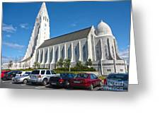 Hallgrimskirkja Church - Reykjavik Iceland Greeting Card by Gregory Dyer