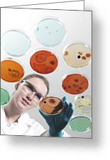 Microbiology Research Greeting Card by Tek Image