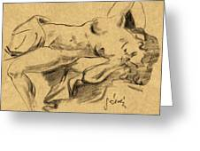 Nude Girl Greeting Card by Odon Czintos