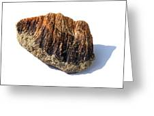 Rock From Meteorite Impact Crater Greeting Card by Detlev Van Ravenswaay