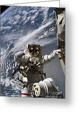 Astronaut Participates Greeting Card by Stocktrek Images