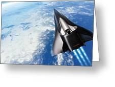 Saenger Horus Spaceplane, Artwork Greeting Card by Detlev Van Ravenswaay