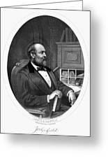 James A. Garfield (1831-1881) Greeting Card by Granger