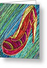 80's High Heels Greeting Card by Kenal Louis