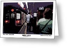 86th Street Greeting Card by Kenneth De Tore