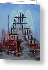 9-11 Greeting Card by Jorge Parellada