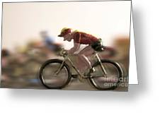 Cyclists Greeting Card by Bernard Jaubert