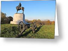 Gettysburg Three Days Battle   Greeting Card by Valia Bradshaw
