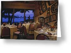 Restaurant Greeting Card by Robert Pisano