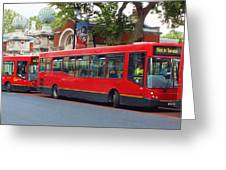 A Bevy Of Buses Greeting Card by Anna Villarreal Garbis