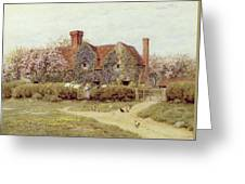A Buckinghamshire House At Penstreet Greeting Card by Helen Allingham