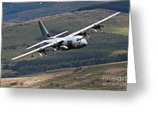 A C-130 Hercules Of The Royal Air Force Greeting Card by Andrew Chittock