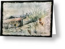 A Chapel In Muros 1982 Greeting Card by Glenn Bautista