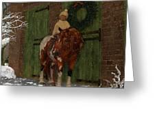 A Christmas Pony Greeting Card by Heather Douglas