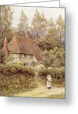 A Cottage Near Haslemere Greeting Card by Helen Allingham