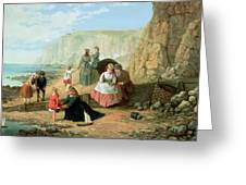 A Day At The Seaside Greeting Card by William Scott