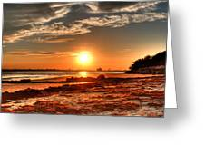 A Day Ends Over Charleston Greeting Card by Andrew Crispi