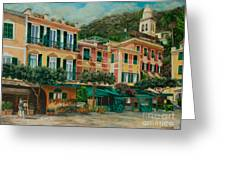 A Day In Portofino Greeting Card by Charlotte Blanchard