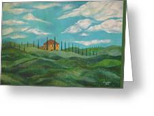 A Day In Tuscany Greeting Card by John Keaton