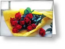 A Dozen Red Roses Greeting Card by Garry Gay