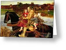 A Dream Of The Past Greeting Card by Sir John Everett Millais