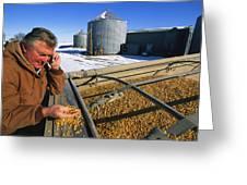 A Farmer Runs His Corn Through His Hand Greeting Card by Joel Sartore