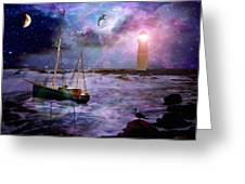 A Fishermans Tale Greeting Card by Susie  Hawkins