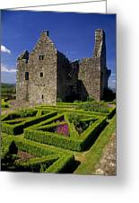 A Garden In Front Of Tully Castle Near Greeting Card by The Irish Image Collection
