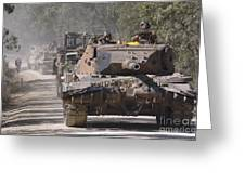 A German Designed Leopard As1 Gun Tank Greeting Card by Stocktrek Images
