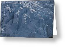 A Glacier Icefall From The Cordillera Greeting Card by Gordon Wiltsie