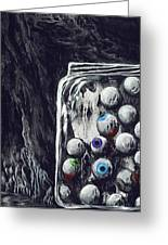 A Jar Of Eyeballs Greeting Card by David Junod
