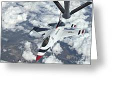 A Kc-135 Stratotanker Refuels An Air Greeting Card by Stocktrek Images