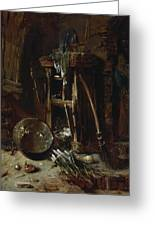 A Kitchen Corner Greeting Card by Willem Kalf