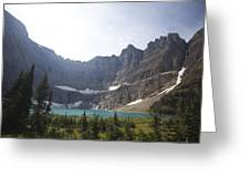 A Landscape Image Of Iceberg Lake Greeting Card by Michael Hanson
