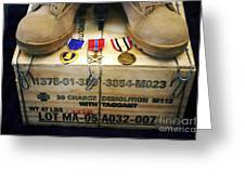 A Memorial Dedicated To An Airman Who Greeting Card by Stocktrek Images