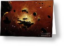 A Nebula Evaporates In The Far Distance Greeting Card by Brian Christensen