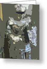 A Nightly Knight Greeting Card by Karen Francis