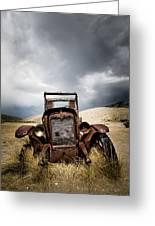A Old Time Car Greeting Card by Henny Gorin