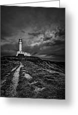 A Path To Enlightment Bw Greeting Card by Evelina Kremsdorf