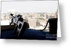 A Pk 7.62mm Machine Gun Nest On Top Greeting Card by Terry Moore