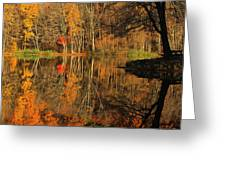 A Reflection Of October Greeting Card by Karol  Livote