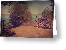 A Ride Down To The Lake Greeting Card by Laurie Search