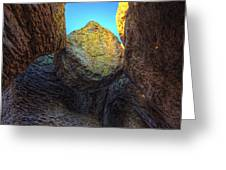 A Rock Balanced Precariously Greeting Card by Robert Postma