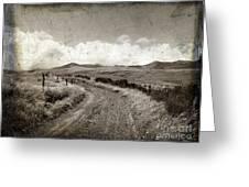 A Rural Path In Auvergne. France Greeting Card by Bernard Jaubert