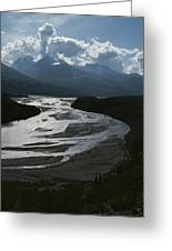 A Scenic View Of The Matanuska River Greeting Card by George F. Herben