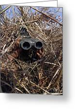 A Scout Observer Practices Observation Greeting Card by Stocktrek Images