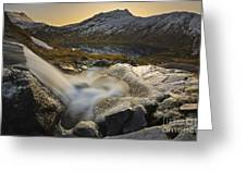 A Small Creek Running Greeting Card by Arild Heitmann