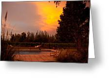 A Small Vineyard And Fine Hotel Greeting Card by Michael S. Lewis