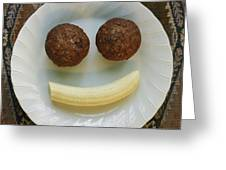 A Smiling Breakfast Of Muffins Greeting Card by Marc Moritsch